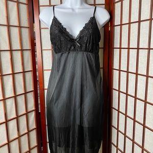 Black lace trim chemise